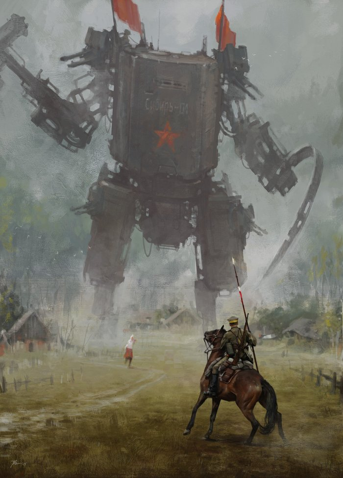 jakub-rozalski-1920-hammer-and-sickle