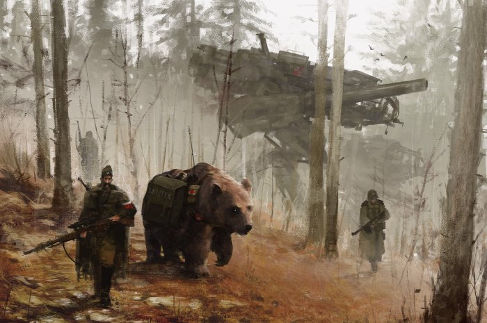 jakub-rozalski-1920-into-the-wild