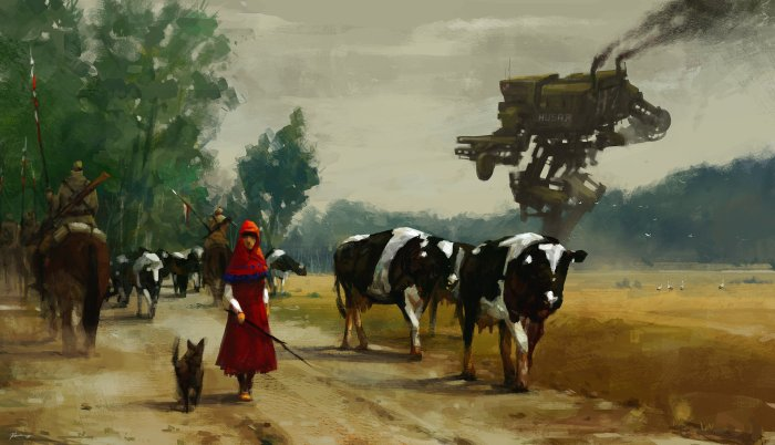 jakub-rozalski-1920-on-the-road