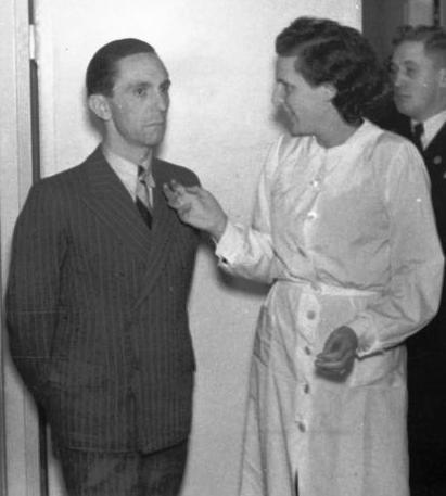 Leni Riefenstahl with Joseph Goebbels